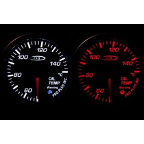 PRO RACING GAUGE 52mm - Olajhőfok Piros&FEHÉR